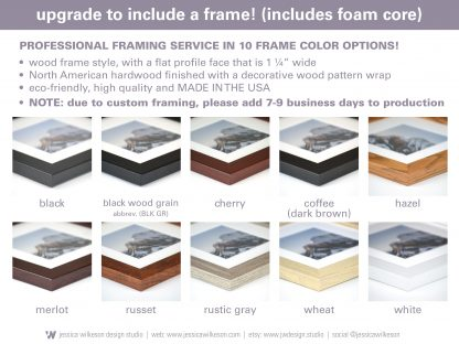 frame options at jessica wilkeson design studio