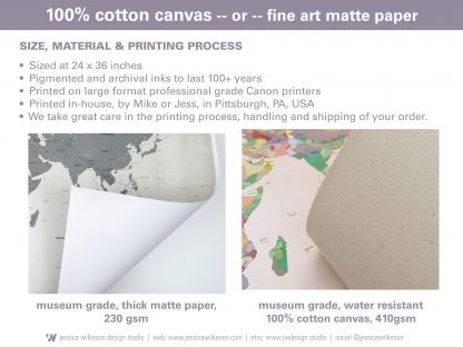 cotton or paper push pin map