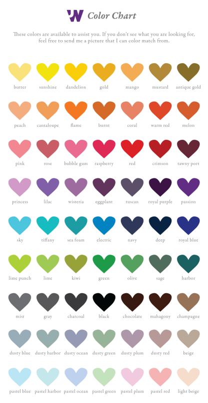 Jessica Wilkeson Design Studio Color Chart