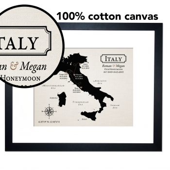 cotton map of Italy