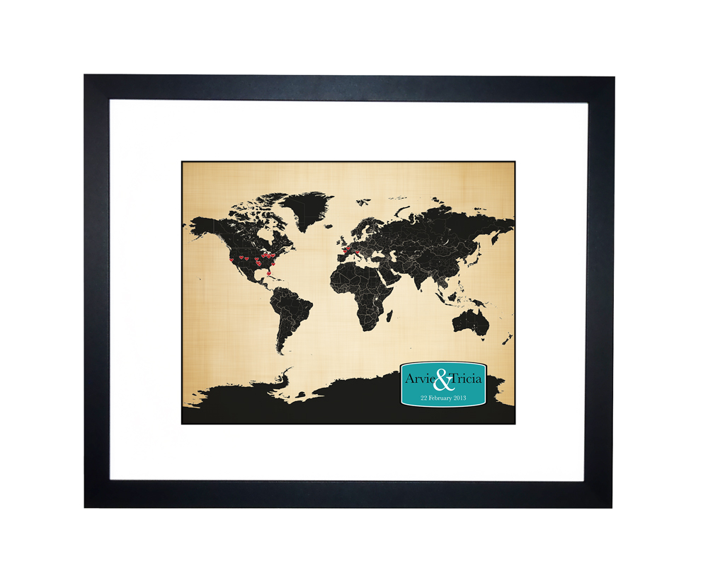 World map personalized family travels map anniversary gift idea world map personalized gumiabroncs