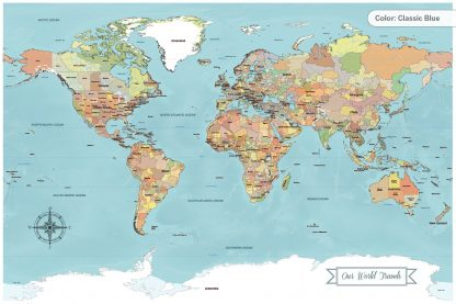 paper anniversary gift idea push pin world map