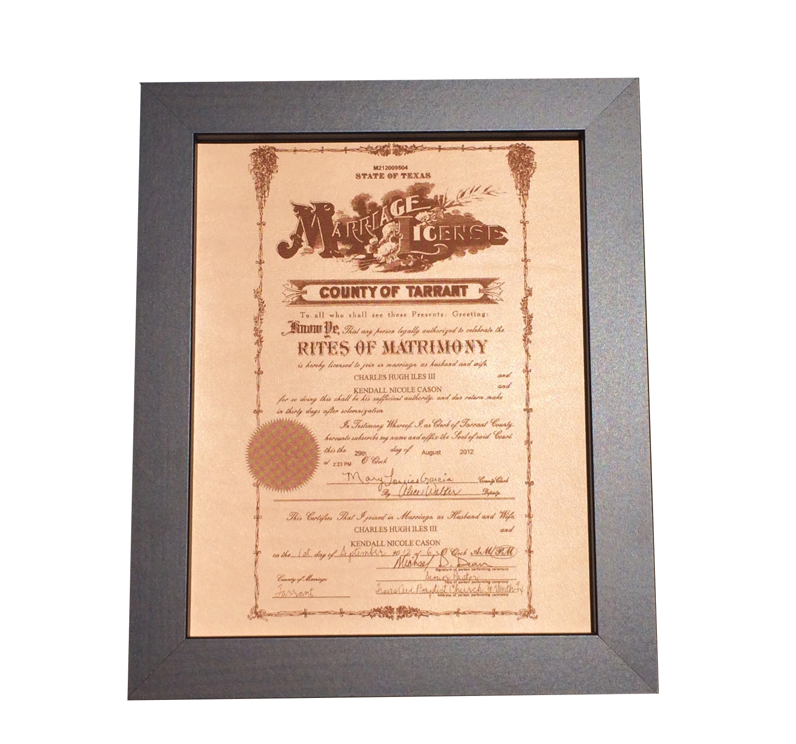 Leather marriage certificate photo engraving leather for Best marriage anniversary gifts