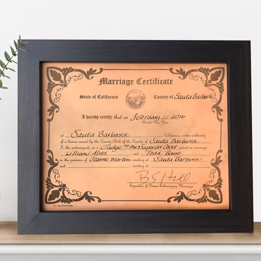 63b1cd871933 leather engraved wedding certificate · leather anniversary gift wedding  certificate ...