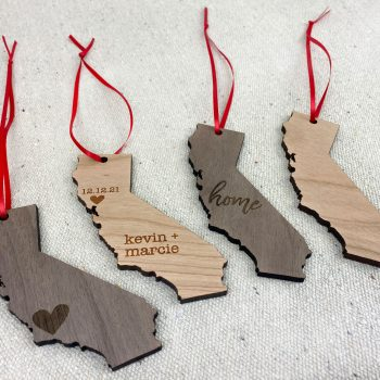 state holiday ornament personalized