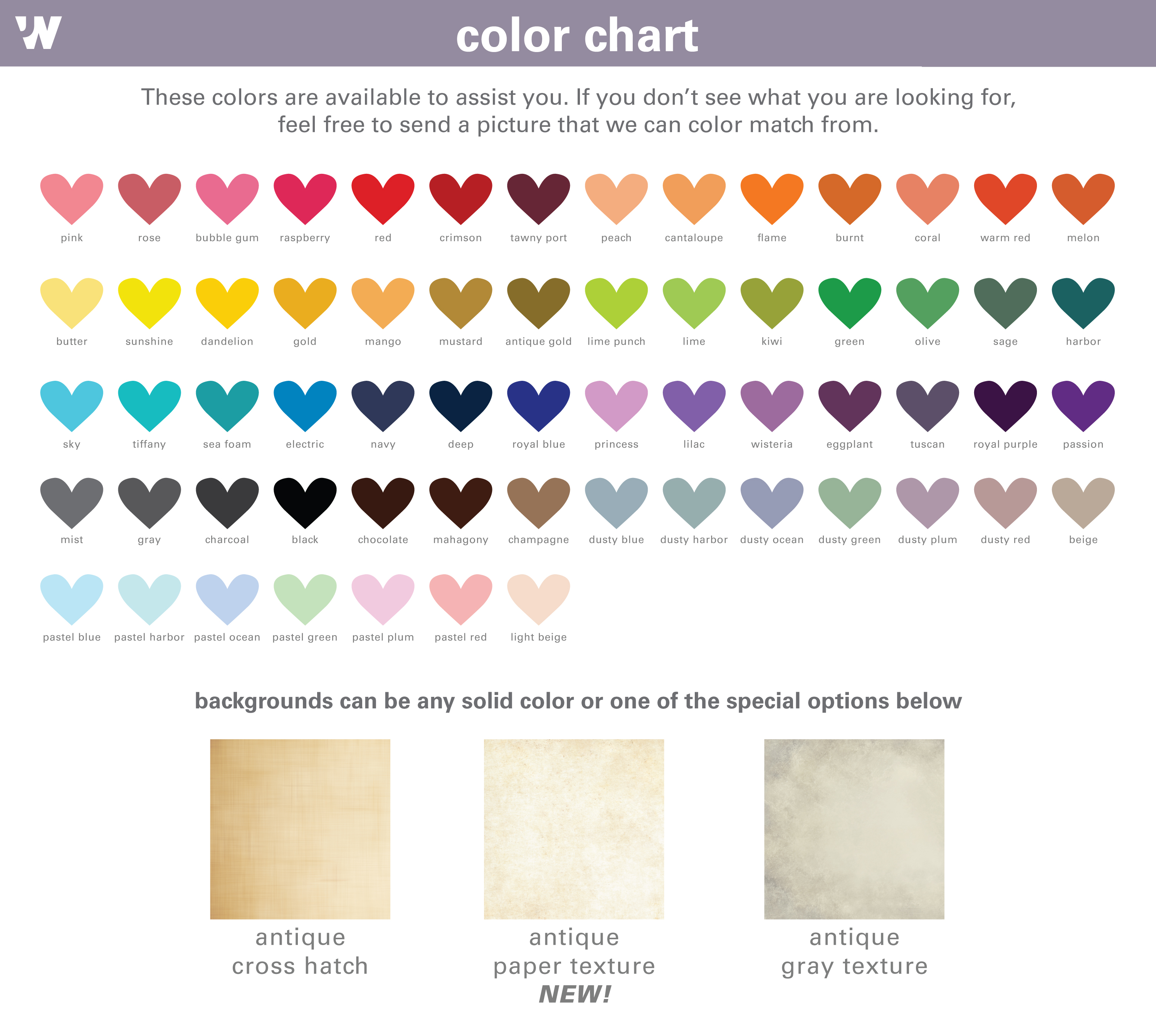 color chart for Jessica Wilkeson