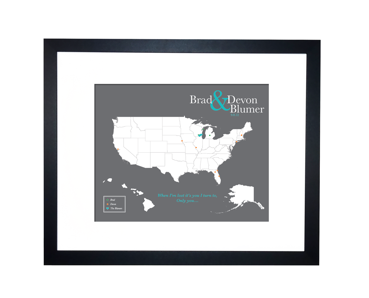 US Family Travels Map Paper anniversary Cotton Anniversary – Family World Travel Map
