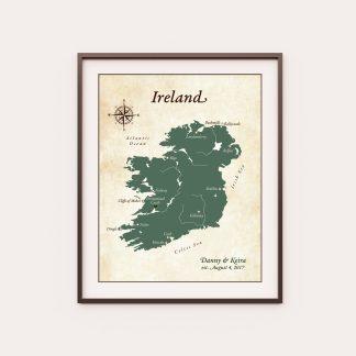 ireland honeymoon map