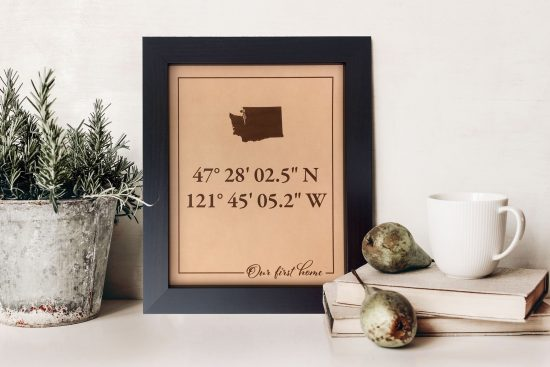 gps state art leather sign