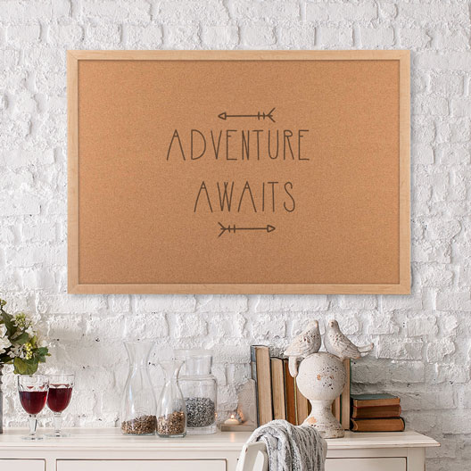 adventure awaits corkboard