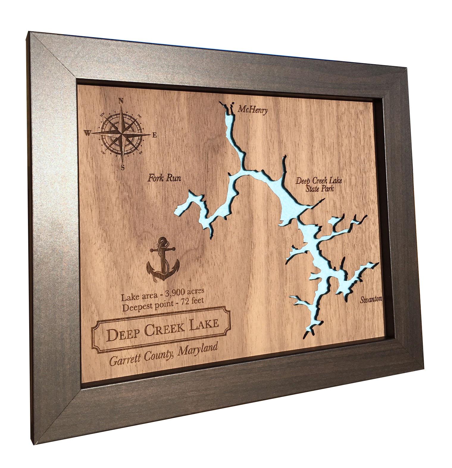 wood lake map laser cut wood lake lake home decor wood anniversary