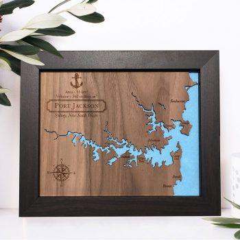 Port Jackson Wood Map
