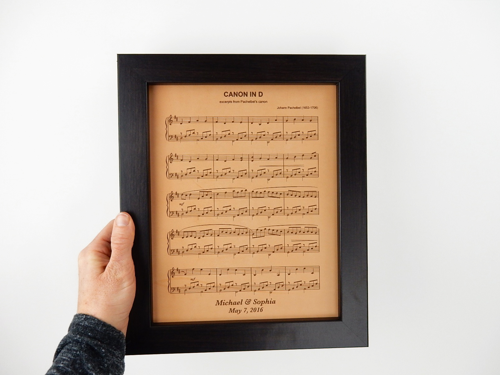 leather anniversary sheet music gift