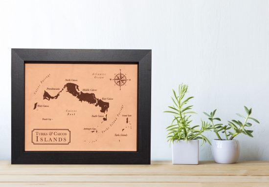 leather keepsake map