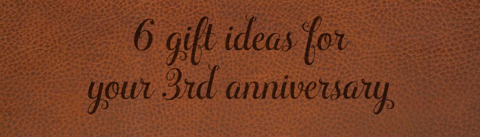 Third anniversary gift ideas for him and her, leather gift ideas ...