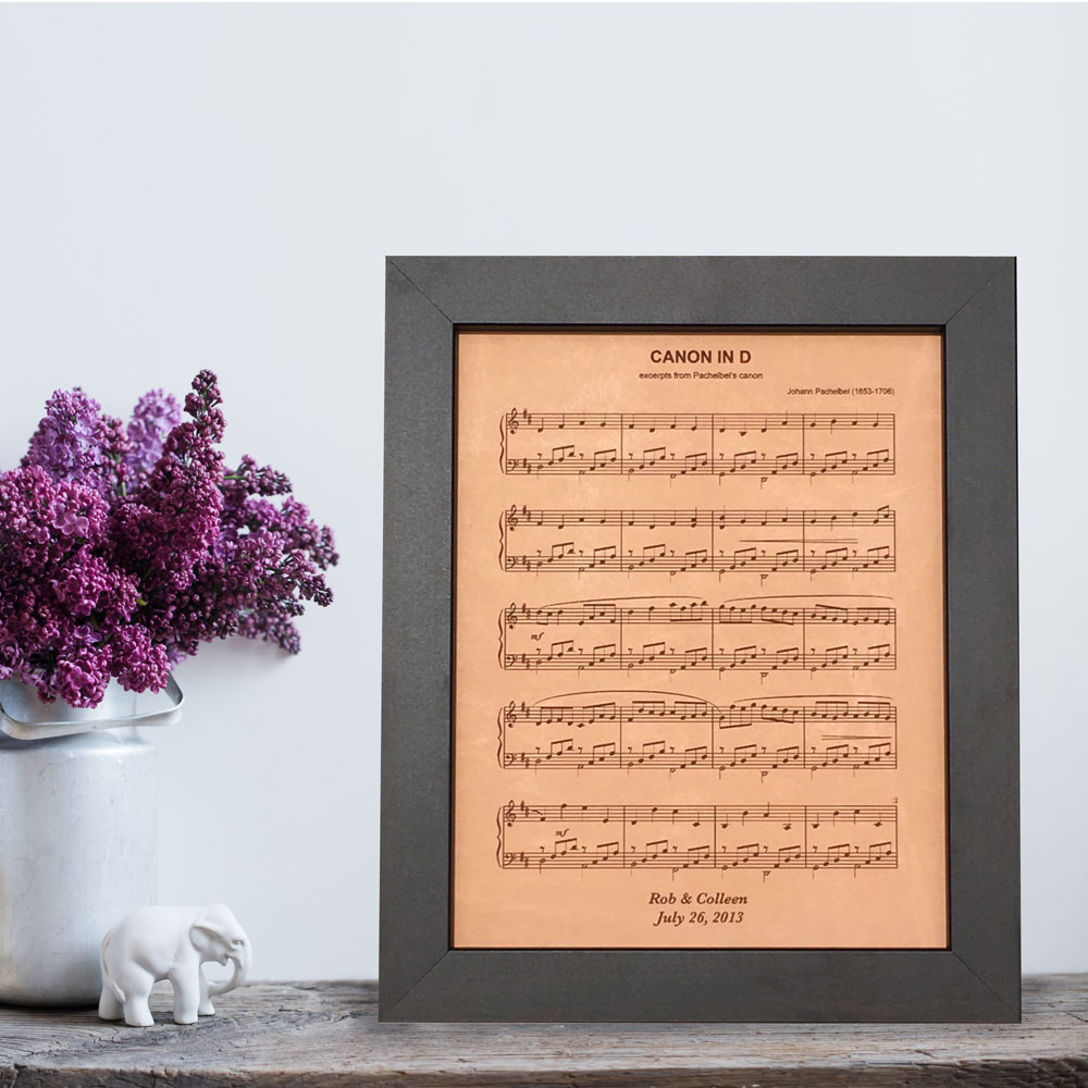 leather sheet music 3rd anniversary