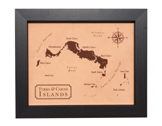 Leather anniversary gift, leather map