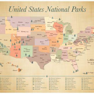 Custom push pin USA Travel map