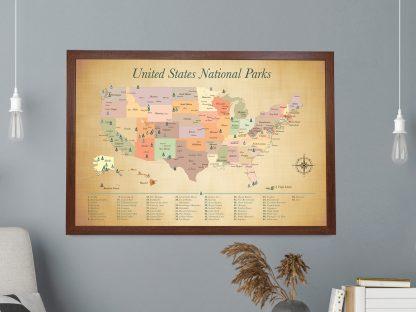 push pin parks map