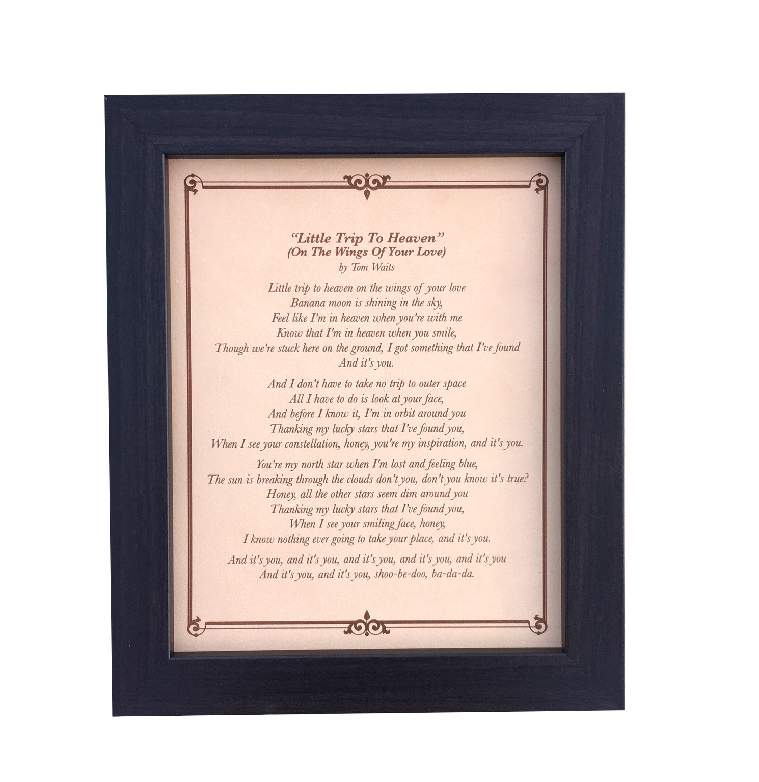 Wedding song lyrics anniversary gift for him engraved lyrics on song lyrics engraved on leather stopboris Image collections