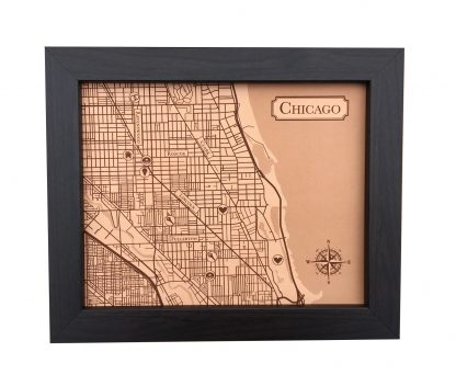 Chicago Leather City Map