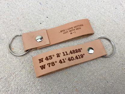 gps latitude longitude key chain