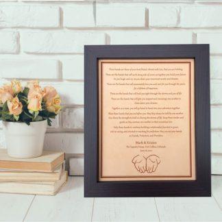 hands ceremony wedding keepsake