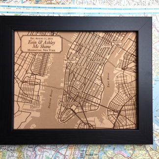 Lower Manhattan leather city map