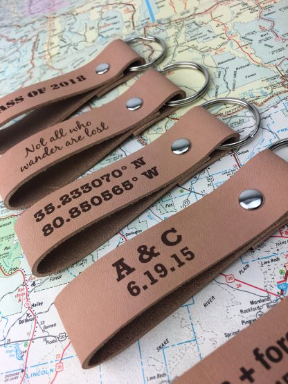 personalized leather key chains