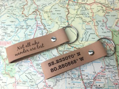 leather key chain, personalized