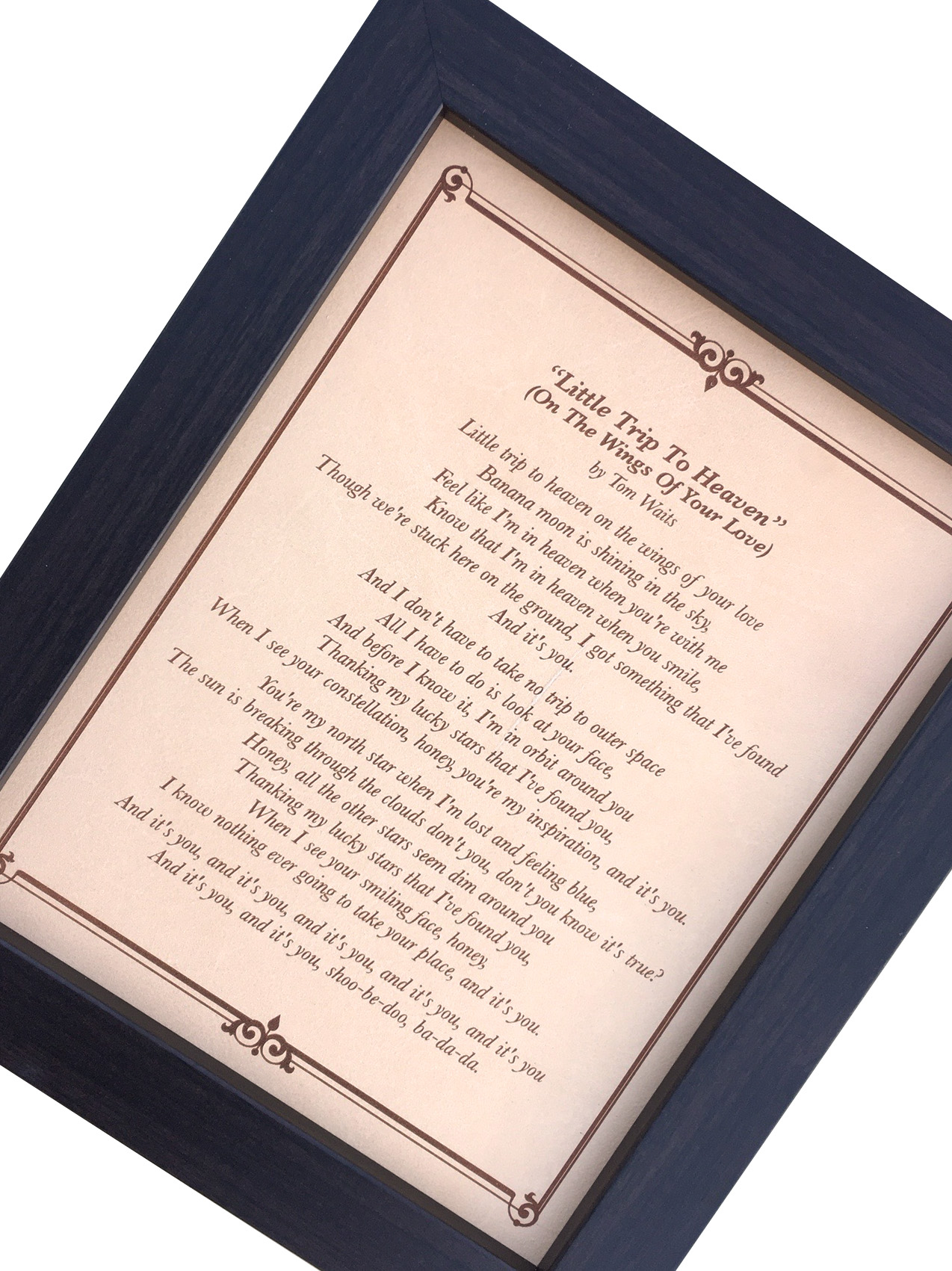 Wedding song lyrics, Anniversary gift for him, Engraved lyrics on ...