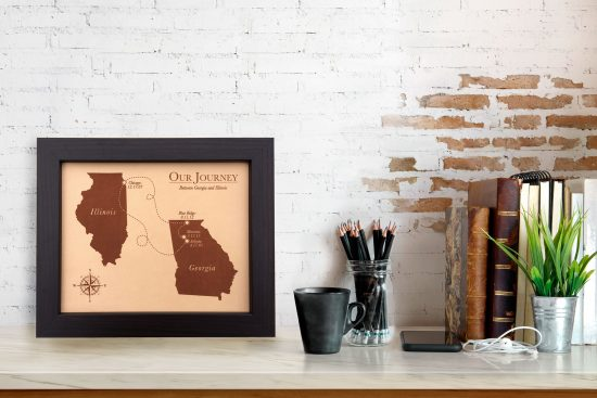 love story map, leather anniversary