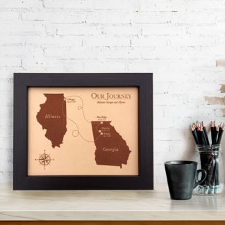 our love story leather anniversary map