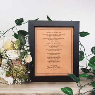 leather anniversary gift idea wedding song