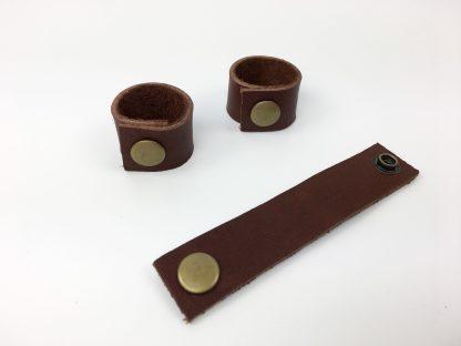 cord organizer leather strap
