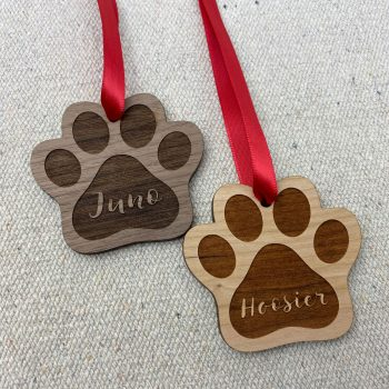 dog paw ornament