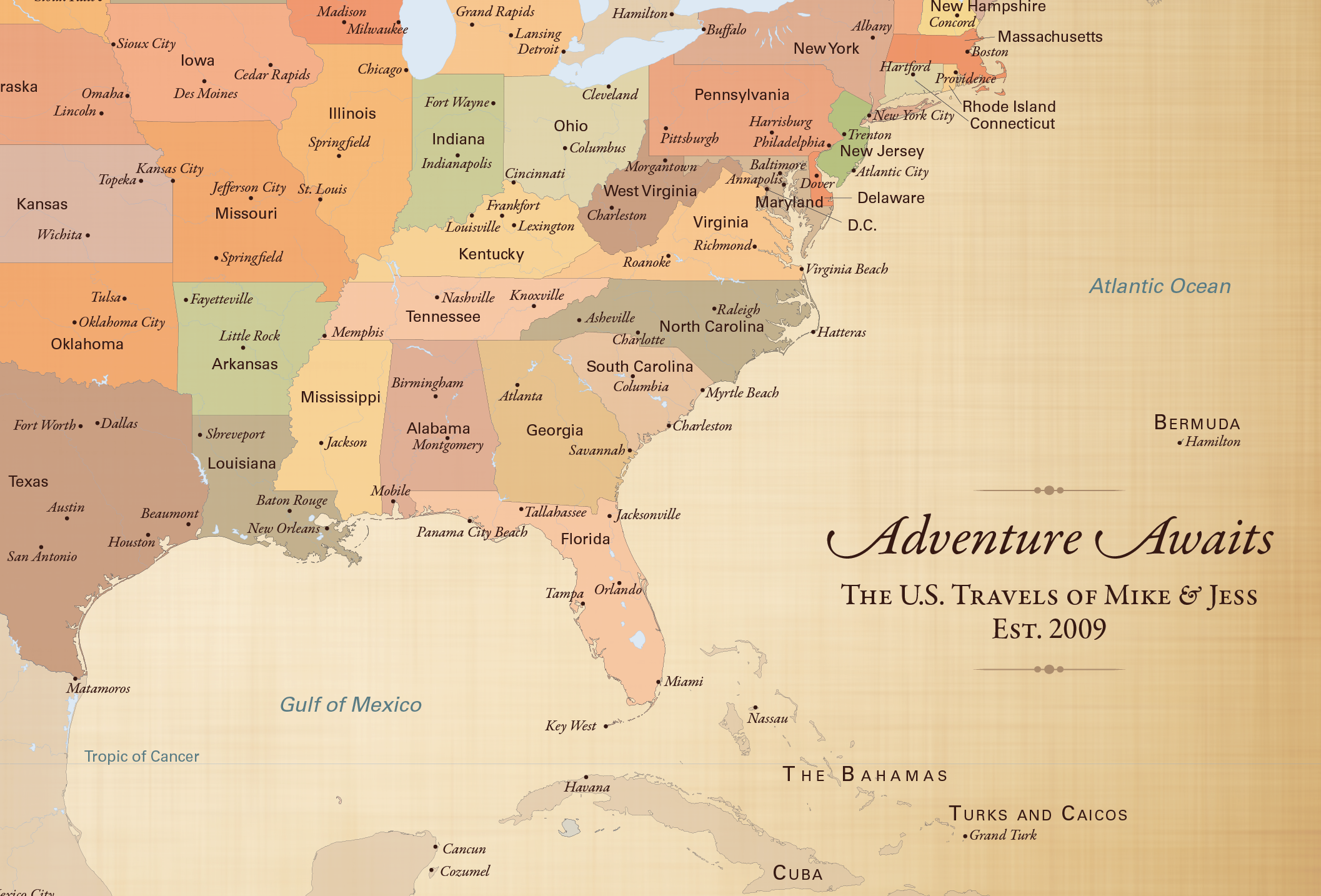 Adventure Awaits Us Travel Map With 100 Map Pins - Us-travel-map
