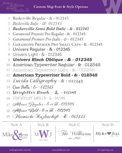 font list by jessica wilkeson