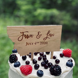 rustic cake topper for wedding
