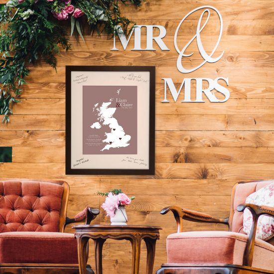 guest book alternative wedding map
