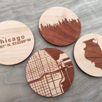Chicago city coasters