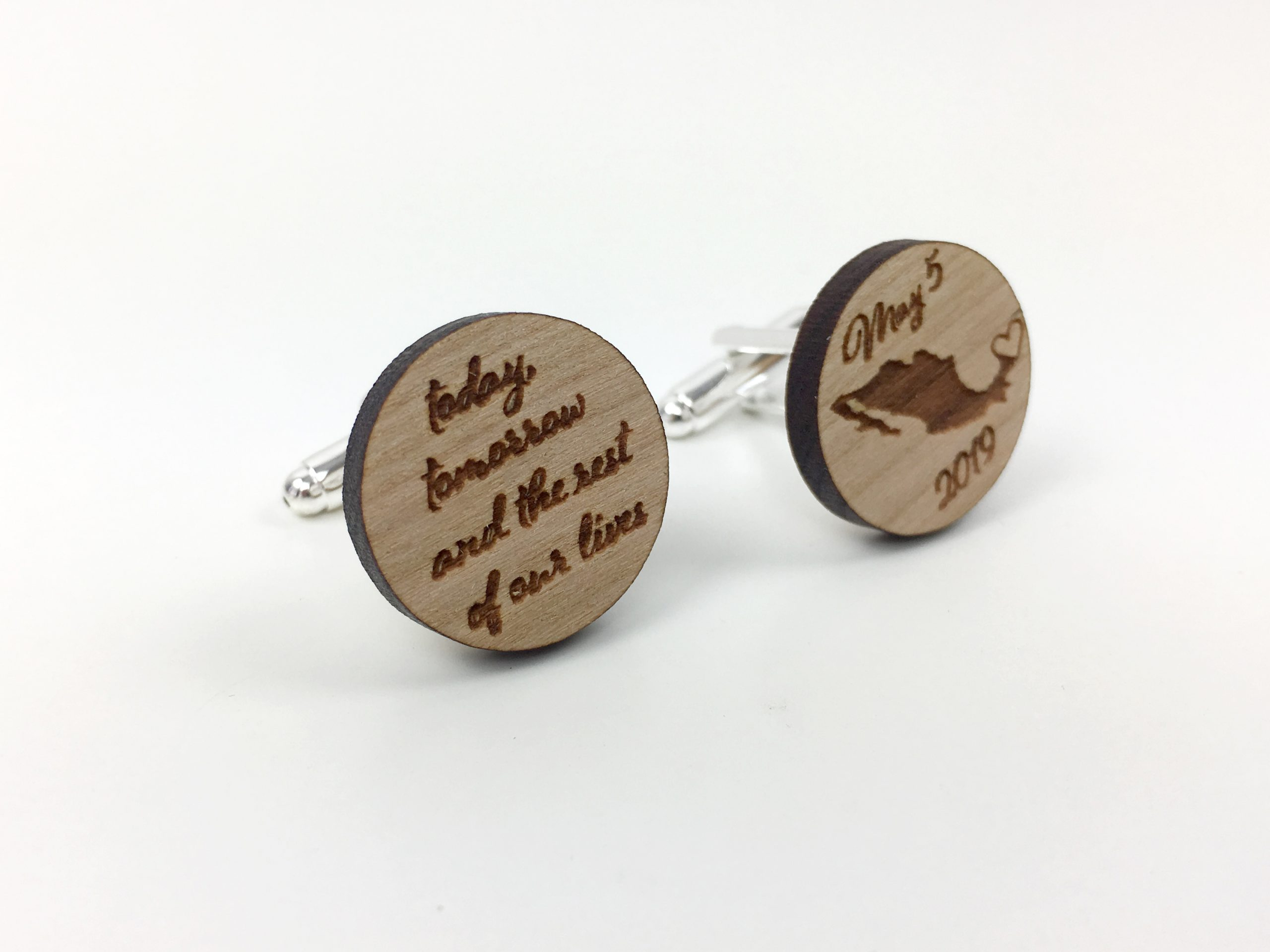 Unique Wood Encased Resin Illusion Mens Gift cuff links Wedding Gift Cuff links by CUFFLINKS DIRECT Anniversary Personalised engraved