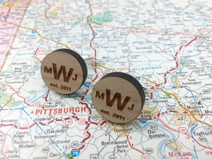 personalized monogram cuff links