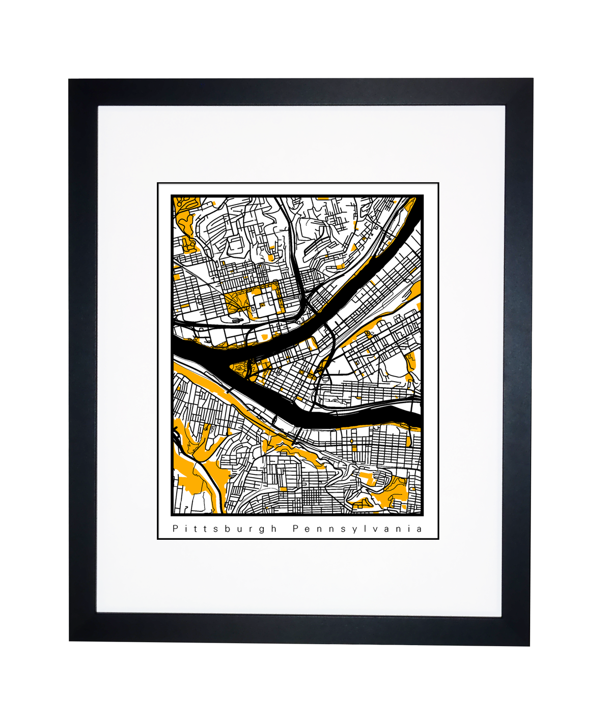 Steelers Pittsburgh City Map