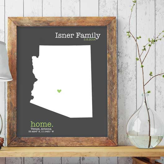 heart on home state map