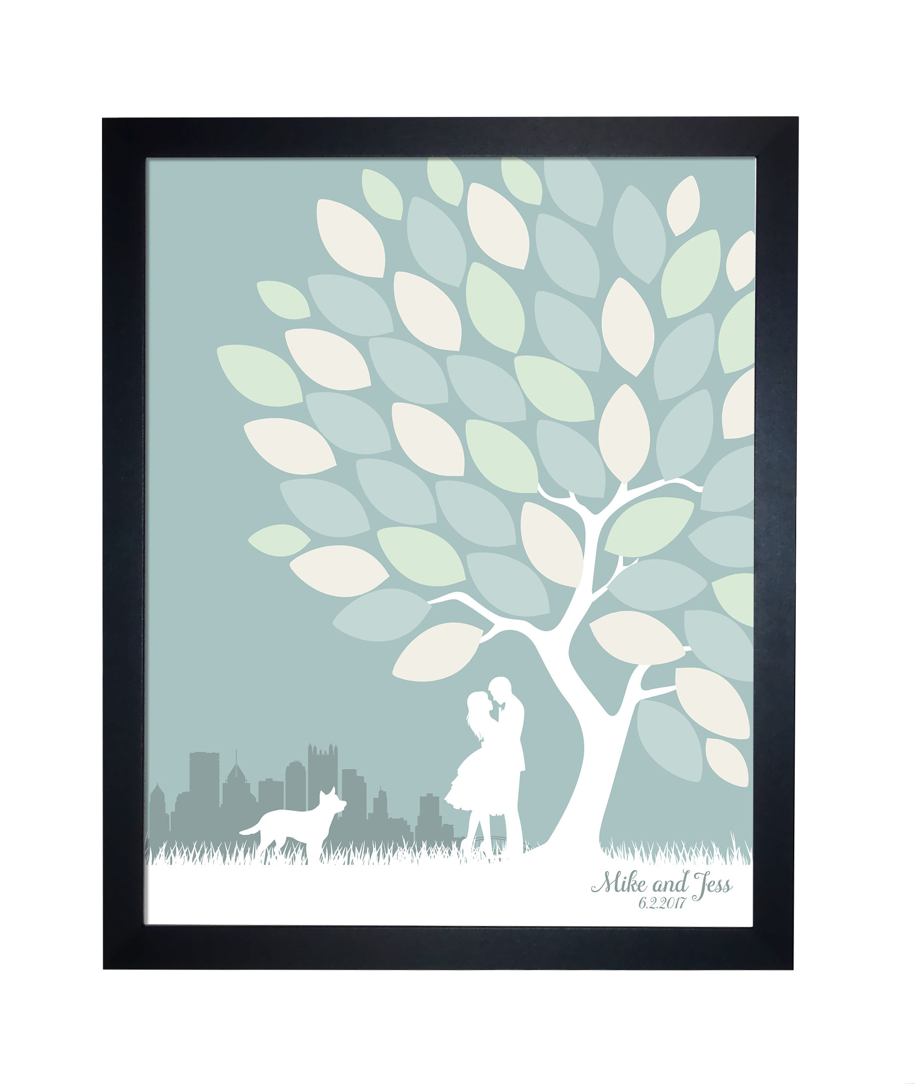 Tree leaves guest book