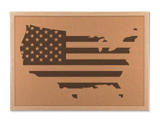 United States Flag map