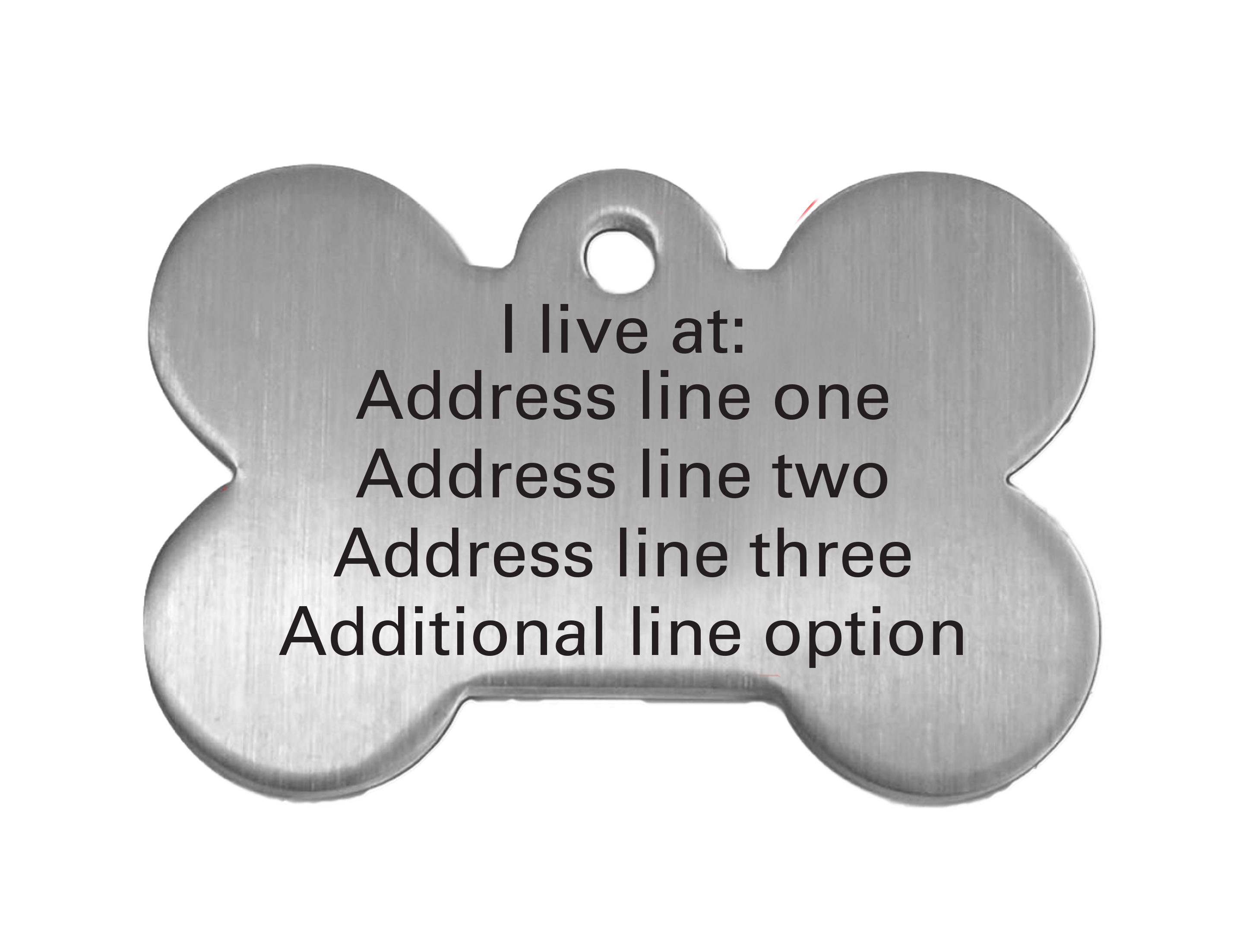 personalized bone shaped dog tag