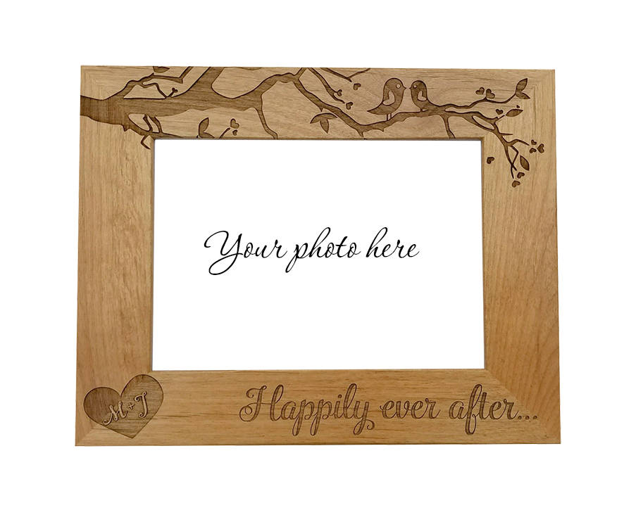 love bird wedding photo frame