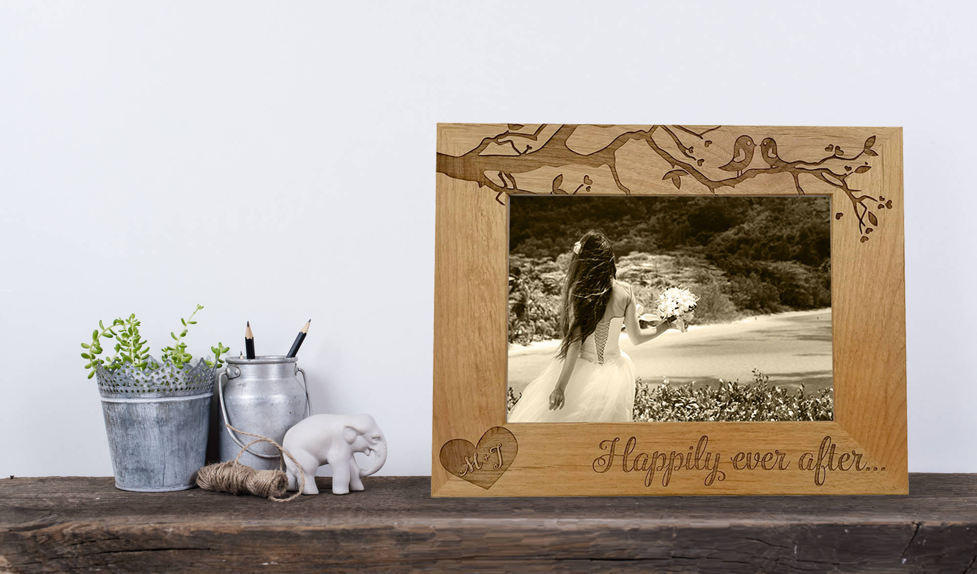 love birds wedding photo frame